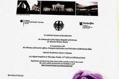 חגיגות האיחוד -שגרירות גרמניה 15.10.20