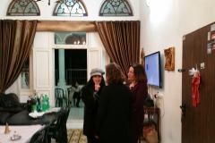 מפגש משלחת ניו יורק- ערביות יהודיות- בביתה של חנאן אבלסי, ביפו 8 בדצמבר 2016