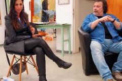 מפגש תרבותי- שיח גלריה לדירקטוריות כפר סבא עם הצייר אריק ואנונו