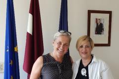 """""""שגרירות לטביה- פגישה עם השגרירה- גב' אליטה גבלה, ת""""א, 5.11.18"""